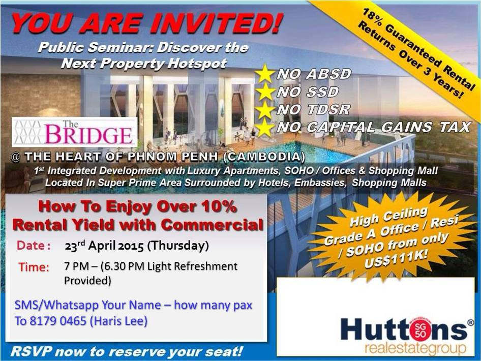 The Bridge Free Property Seminar and Event 23 April 2015