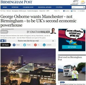 George Osborne Plan On Manchester