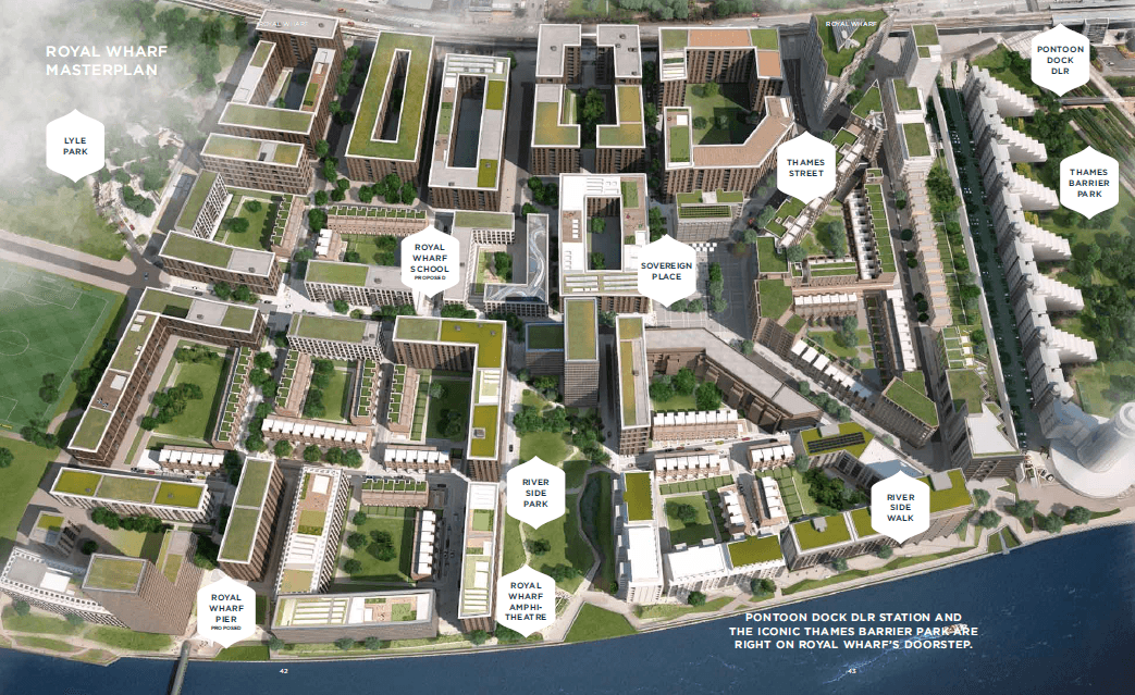 Royal wharf master plan