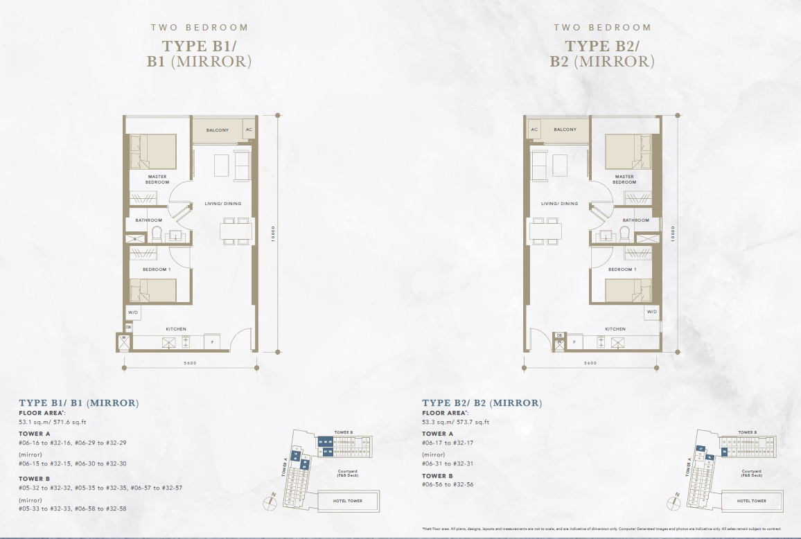 oxley convention city 2 bedroom floor plan
