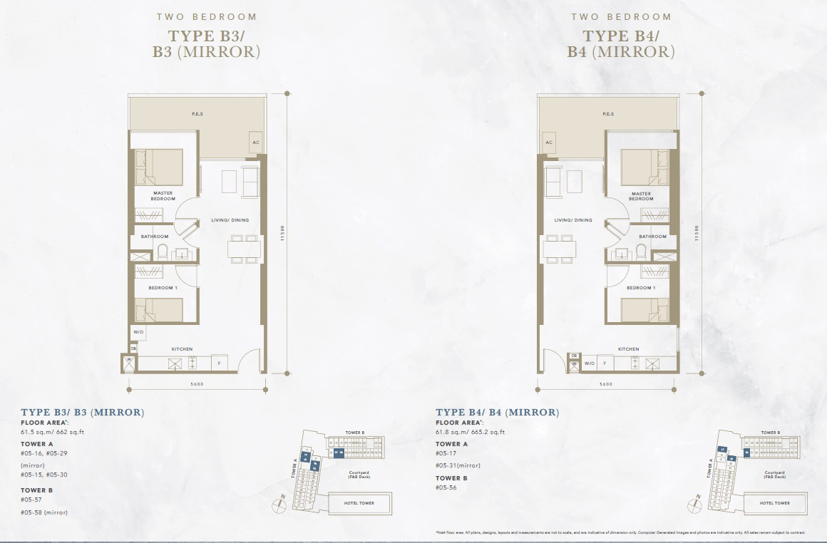 oxley convention city 2 bedroom floor plan2