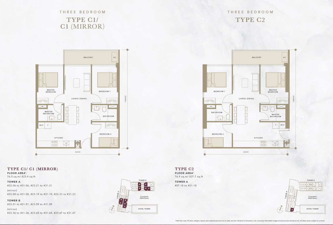 oxley convention city 3 bedroom floor plan