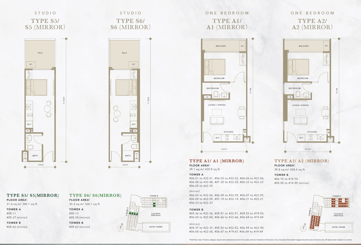 oxley convention city studio floor plan 2