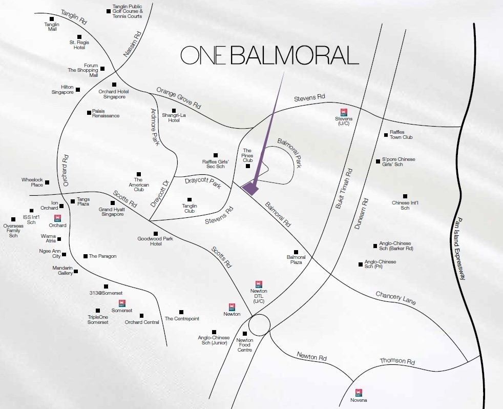 One Balmoral Location