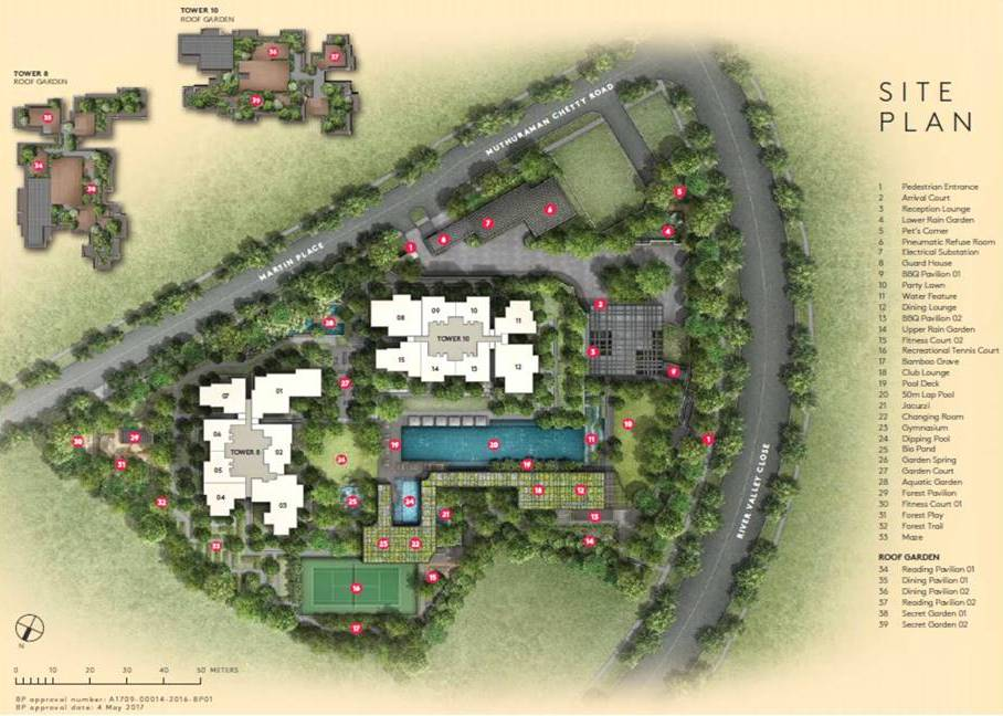 Martin Modern Site Plan & Facilities