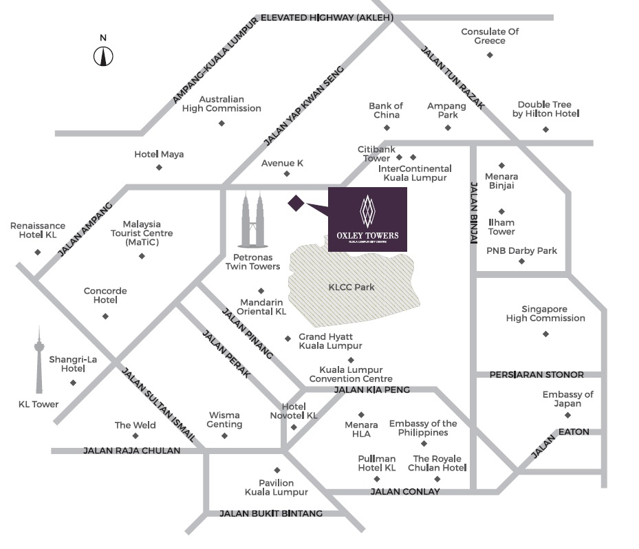 oxley towers location